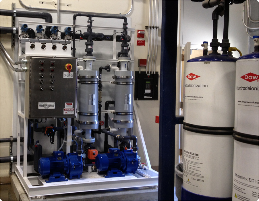 AMI Degassifier and Electrodeionization Installation