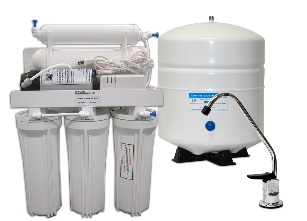 AMI 5 Stage Home RO System with Feed Booster Pump