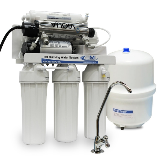 6 Stage POU RO & UV Systems with Booster Pump