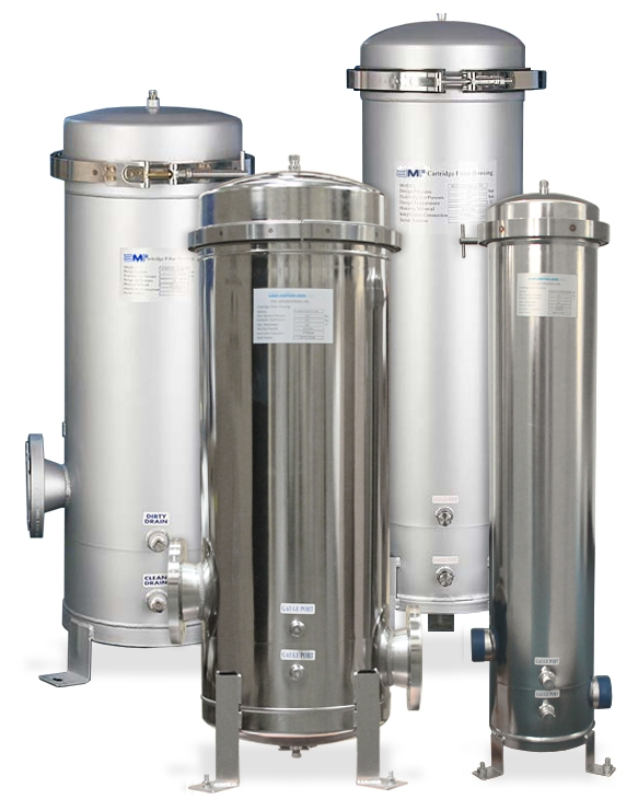 AMI Stainless Steel Filter Housings - Multi-Cartridge Band Clamp Liquid Vessels
