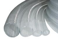 Braided Clear PVC Tubing with Polyester Reinforcement
