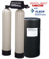 Twin Alternating Water Softeners with Fleck Control Valves
