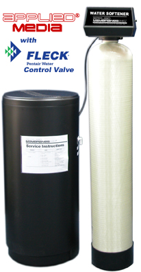 Single Metered Water Softeners with Fleck Control Valves
