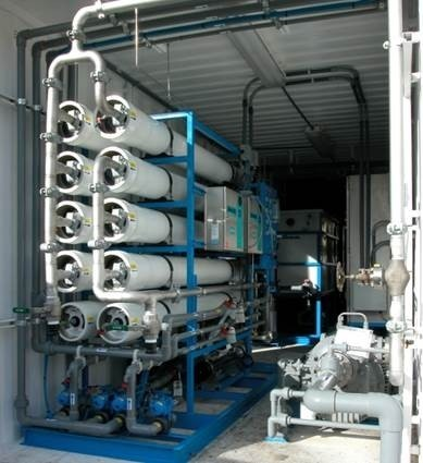 Containerized 2-Pass Seawater RO System for Off-Shore Oil Platform