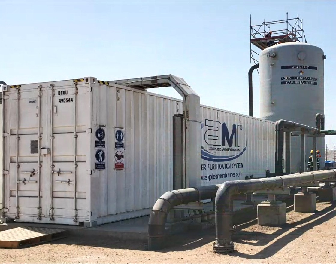 Containerized Seawater Desalination Plant for Mining Operation