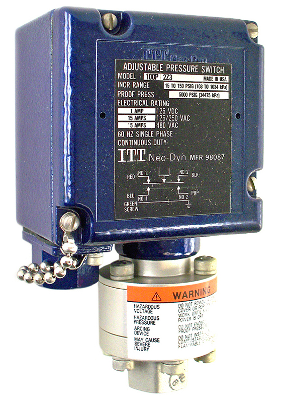 ITT Neo-Dyn Pressure Switch