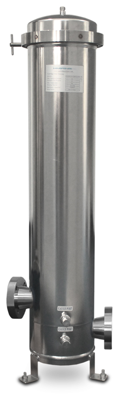 "5 Cartridge Stainless Steel Filter Housing 20/"" Cartridges 2 Inch NPT In//Out"