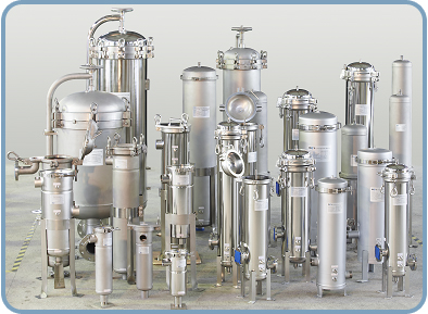 Stainless Steel Commercial Water Filter and Liquid Filter Cartridge and Bag Housing Vessels