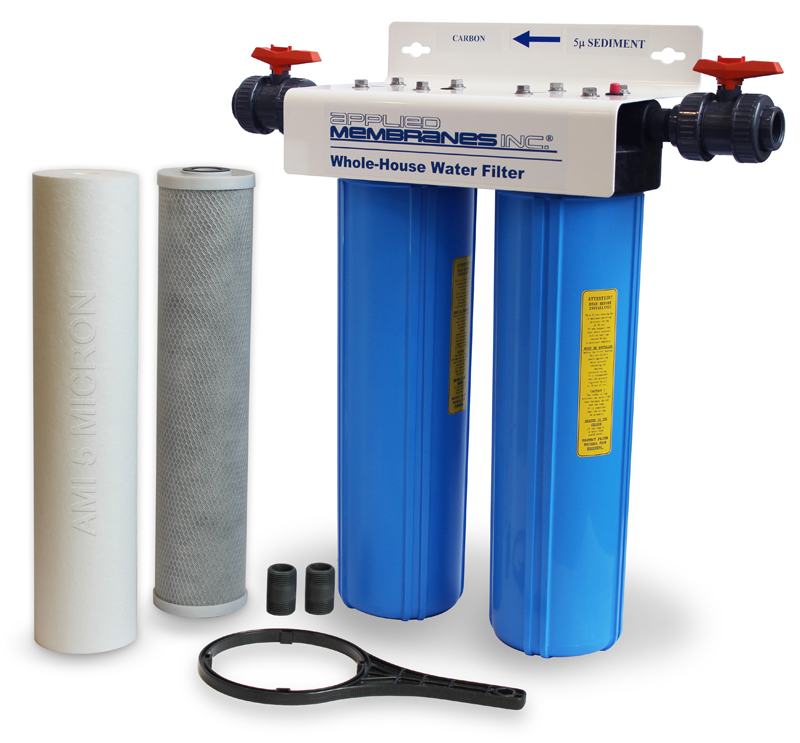 2 Stage 20in Carbon and Sediment Whole-House Water Filter