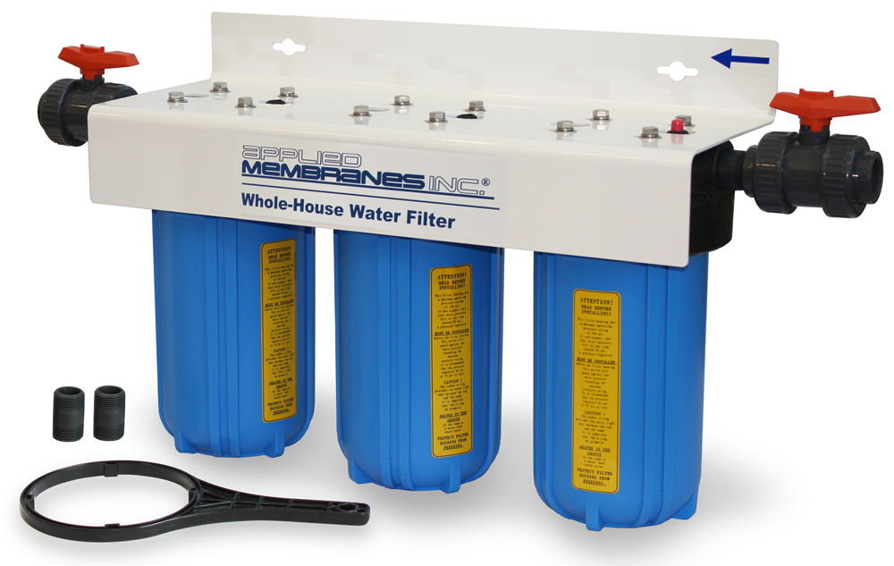 3 Stage 10in Customizable Whole-House Water Filter