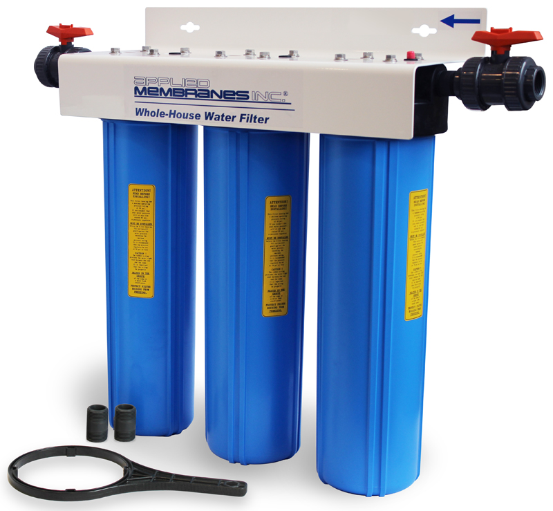 3 stage 20in wholehouse water filter