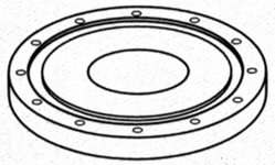 Flanged Closure for Media Filter Tank