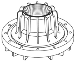 Flanged Adapter for Media Filter Tank