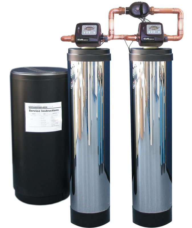 Twin Alternating Water Softener with Optional SS Jacket