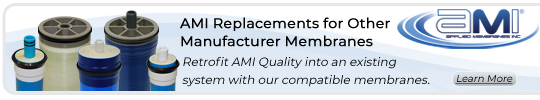 AMI RO Membrane Replacements for Culligan, Ametek, Desal, Osmonics, and More