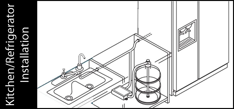 Flojet BW4000 Bottled Water Dispensing System Kitchen Installation