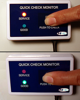 QC-1 Single Inline TDS Monitor in Use