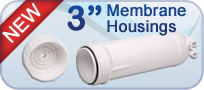 "3"" RO Membrane Housings for Home or Commercial Use"