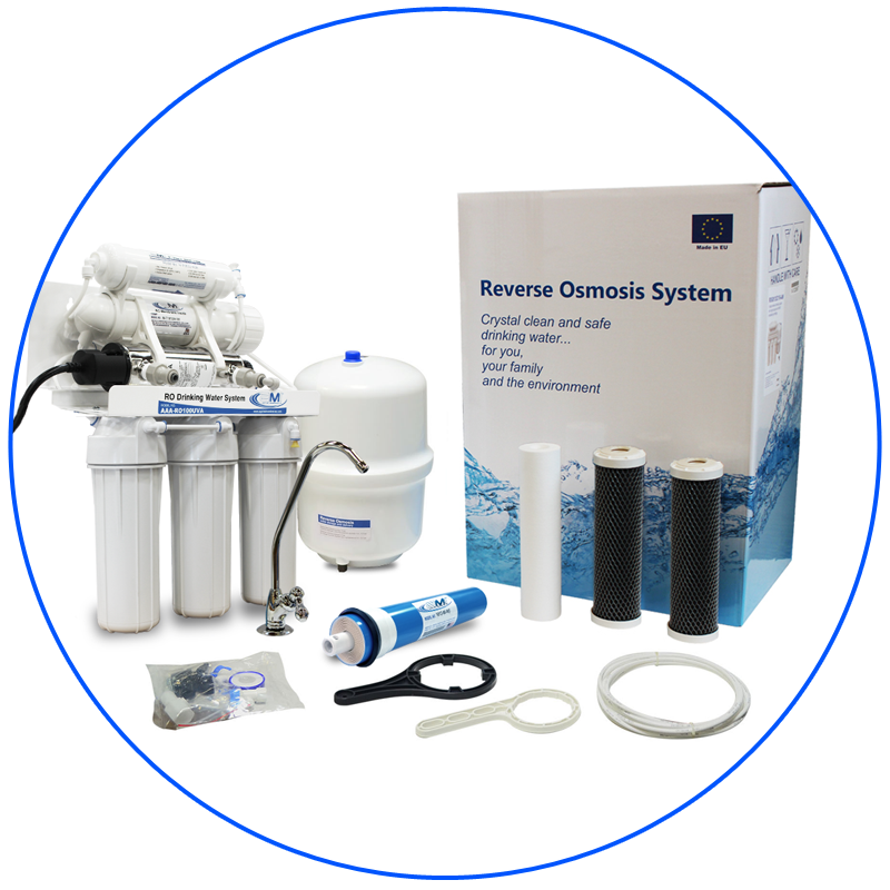 100 GPD Home RO with UV Ultraviolet Disinfection System for Undersink