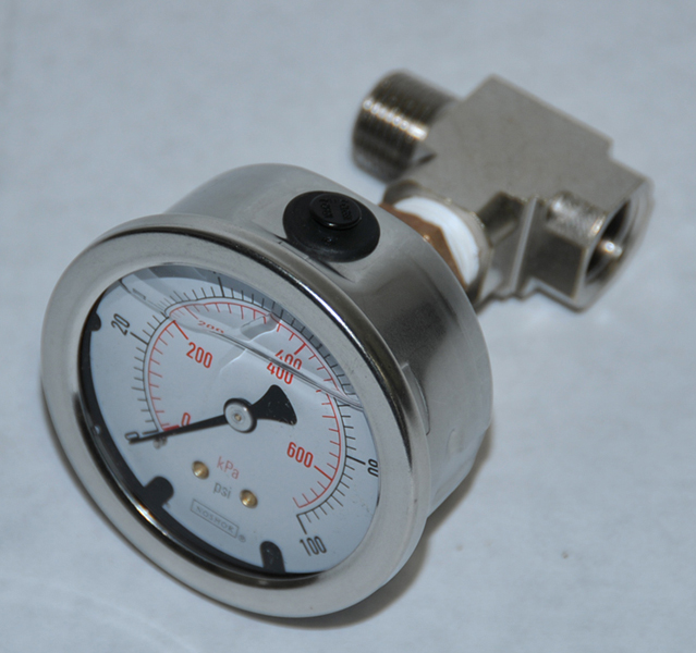 Pressure Gauge for Wall Mount RO Systems