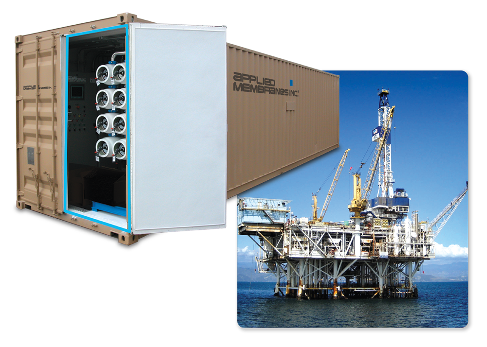 Containerized Seawater Desalination SWRO for Offshore Oil Rig