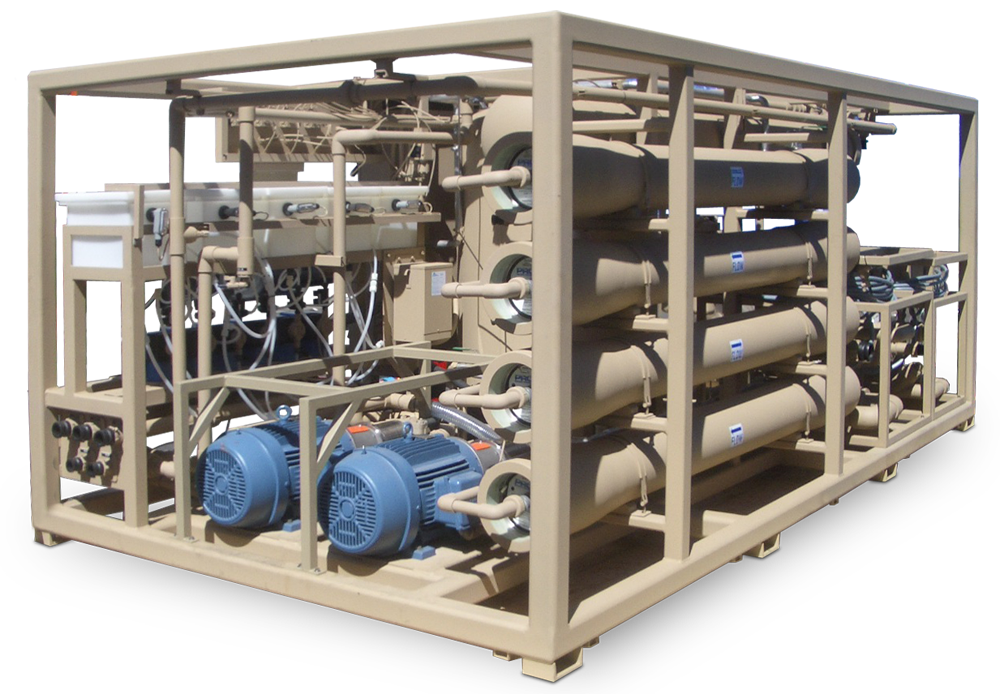 Custom Engineered Seawater RO System for Military Application