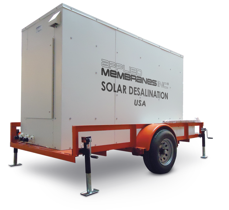 Trailer Mounted Solar Powered Water Desalination System