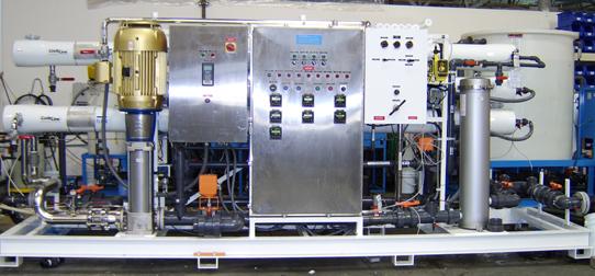 water treatment pilot plant ro, uf, mf, nf application testing