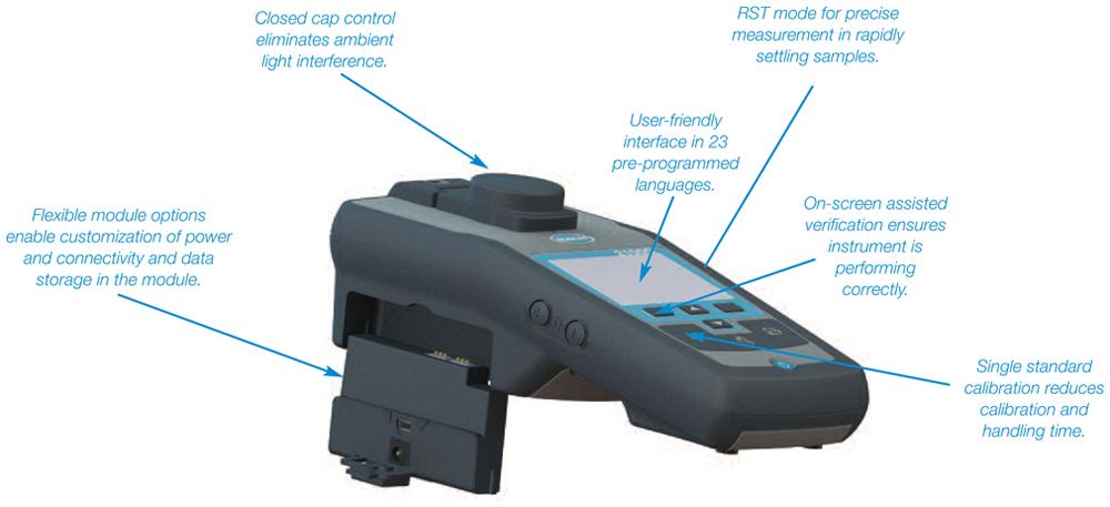 Hach 2100Q Portable Turbidimeter Functions