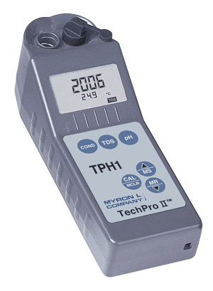 Myron L TechPro II TPH1 Water Tester for pH TDS and Conductivity