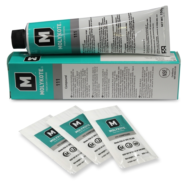 Molykote 111 (DOW Corning 111) High Grade Silicon Lubricant for Water Filter Systems